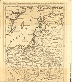 A MAP of the several Countries thro' which the Russians are to pass in their March to PRUSSIA
