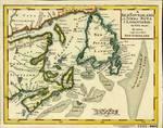 A NEWFOUNDLAND, od. TERRA NOVA S. LAURENTII BAY, die Fisch-Bank, ACADIA, nebst einem Theil NEW SCHOTLAND