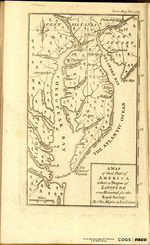 A MAP of that Part of AMERICA where a Degree of LATITUDE was Measured for the Royal Society: