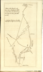 Plan of the Road on the West Side of Highgate Hill, and of Lines by which it may be easily diverted & the Hill avoided