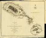AN ACCURATE MAP of the ISLANDS of ST. CHRISTOPHERS and NEVIS in the WEST INDIES By an Officer With the Position of the ENGLISH and FRENCH FLEETS February 7th 1782