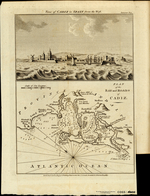 View of CADIZ in SPAIN from the West [on plate with] PLAN of the BAY and ROADS of CADIZ