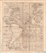 A New and Correct CHART of the WESTERN and SOUTHERN OCEANS Shewing the Variations of the COMPASS according to the latest and best Observations
