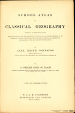 SCHOOL ATLAS OF CLASSICAL GEOGRAPHY