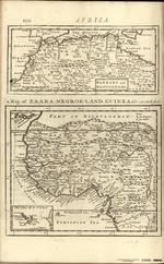 a Map of ZAARA NEGROE-LAND GUINEA &c. [on sheet with] BARBARY and BILDULGERID