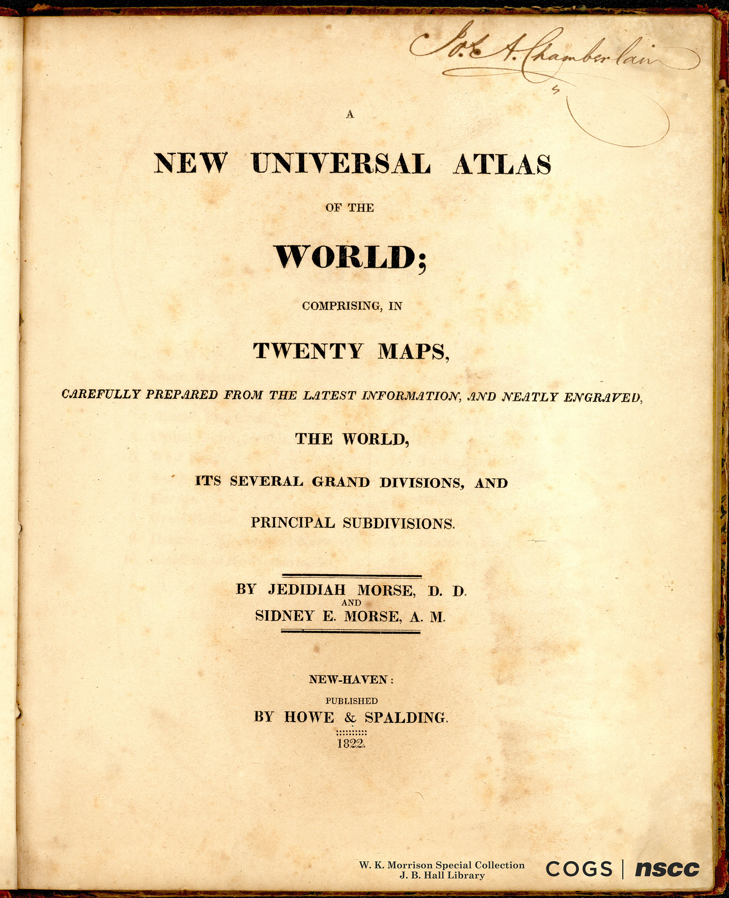 A NEW UNIVERSAL ATLAS OF THE WORLD