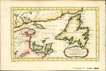 CARTE DU GOLPHE DE ST. LAURENT et Pays Voisins Pour servir a l'Histoire Generale de Voyages