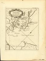 CARTE DE LA BAYE DE TRINQUEMALE dans l'Isle de Ceylan