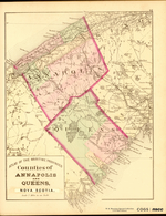 ATLAS OF THE MARITIME PROVINCES: Counties of ANNAPOLIS AND QUEENS, NOVA SCOTIA