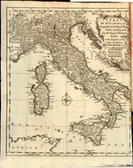 ITALY BY MR. D'ANVILLE Geographer to the French King, Drawn and Engraved from the Original Publish'd at PARIS, at the Expence of the Duke of Orleans