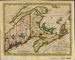 MAP of the DISTRICT of MAINE with NEW BRUNSWICK & NOVA SCOTIA