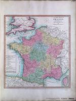 A NEW MAP OF FRANCE, Divided into its DEPARTMENTS