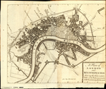 A PLAN OF LONDON AND WESTMINSTER SHEWING THE FORTS ERECTED BY ORDER OF THE PARLIAMENT IN 1643 & THE DESOLATION BY THE FIRE IN 1666