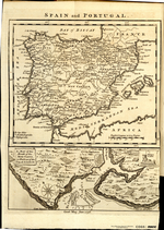 SPAIN and PORTUGAL [on sheet with] A MAP of the Mouth of the River TAGUS, or Harbour of the City of LISBON