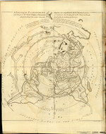 A PHYSICAL PLANISPHERE wherein are represented all the known LANDS and SEAS w'th the Great Chains of Mountains w'ch traverse the GLOBE from the NORTH POLE