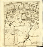 A Map of the Surrey Side the Thames from Westminster Bridge to the Borough, With a Plan for laying out the Roads, to BLACK FRYARS BRIDGE