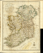 AN ACCURATE MAP of IRELAND divided in PROVINCES and COUNTIES, with Its Great and Bye Roads, Loughs, Rivers, Canals &c. &c.