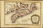 CARTE DE L'ACADIE, ISLE ROYAL, et Païs Voisins Pour servir a l'Histoire Générale des Voyages. Par M.B. Ing'r de la Marine