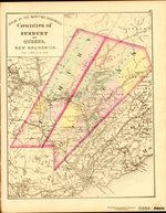ATLAS OF THE MARITIME PROVINCES: Counties of SUNBURY AND QUEENS, NEW BRUNSWICK