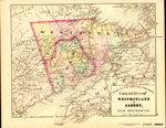 ATLAS OF THE MARITIME PROVINCES: Counties of WESTMORLAND & ALBERT, NEW BRUNSWICK
