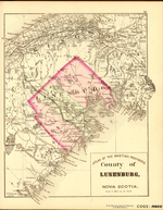 ATLAS OF THE MARITIME PROVINCES: County of LUNENBURG, NOVA SCOTIA