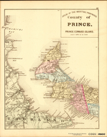 ATLAS OF THE MARITIME PROVINCES: County of PRINCE,  PRINCE EDWARD ISLAND