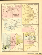 5 Maps on One Sheet: CHATHAM, CHARLOTTETOWN, NEWCASTLE, FREDERICTON, MONCTON