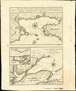 PLAN DU PORT ET VILE DE LOUISBOURG dan l'Isle Royale [on sheet with] PLAN DU PORT DAUPHIN ET DE SA RADE Avec l'Entrée de Labrador