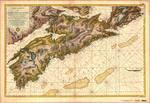 Carte reduite de L'Acadie ou Nouvelle Ecosse comprenant une partie de l'Île Royale, de l'Île St. Jean et du Canada dressee au depot general des cartes, Plans, et Journaux de la Marine pour le service des vaisseaux de Roi par ordre de M. De Sartine Conseil
