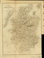 CARTE PHYSIQUE ET ROUTIÈRE DE L'ECOSSE; A MAP OF SCOTLAND