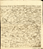 An Accurate MAP of the COUNTRY Sixteen Miles round LONDON Drawn and Engrav'd from an ACTUAL SURVEY [on 4 sheets]