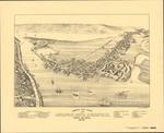 BIRD'S EYE VIEW of ANNAPOLIS ROYAL & GRANVILLE, NOVA SCOTIA, 1878